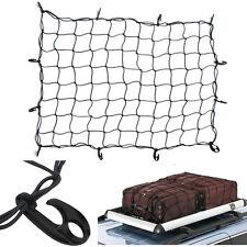 Hook Elastic Car Trailer Roof Rack Boot Luggage Bungee Cord Cargo Net Black