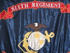 U S Marine Corps 6th Regiment Reproduction Flag WW1