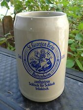 BEER Mug Stein <> St. GEORGEN Brau ~ Buttenheim, GERMANY Since 1624 ** Horse