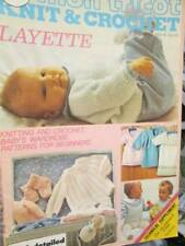 Mon Tricot Knit & Crochet Baby Layette MD 72-February 1980-Bunting Bag/Bed Jacke