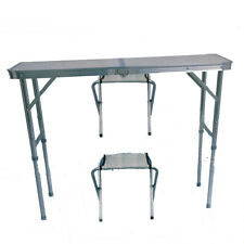 Folding Table Camping and 2 Stühle Chair Suitcase (Table 90x60)