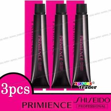 3 X Shiseido Primience Permanent Colour Hair Dye 80g Ammonia G4