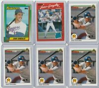 1990 MLB Topps Upper Deck Baseball | Juan Gonzalez RC 6X Lot | Texas Rangers