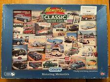 Gibsons - Memories of Classic Motor Cars - Motoring Memories Jigsaw - 1000 Piece