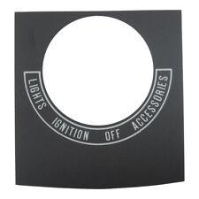 Zündschloß Decal, Schaltbild-Einsatz für Harley-Davidson 68-00