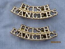 Royal Irish Rangers , Schultertitel,Anodised Aluminium Staybright