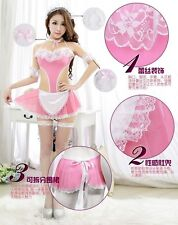 ROSE FEMME SOUBRETTE déguisement HALLOWEEN LINGERIE, cosplay robe costume