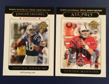 2005 Topps # 318 # 332 PEYTON MANNING Colts Lot 2 Cards