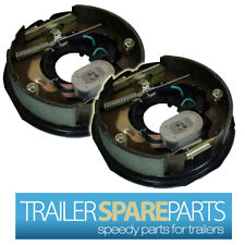 "2 x 10"" Electric Drum Brake Backing Plate Pair Kit Camper Trailer Part Caravan"