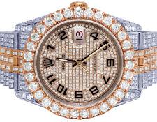 Rolex Datejust 36MM 116231 18K Everose Acero Full Helado Diamante Reloj 17.75CT