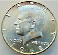 1968D UNITED STATES, Kennedy Half Dollar grading Choice UNCIRCULATED.