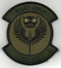 "USAF 67th Special Operations Squadron ""Night Owls"" patch on ve/cro"