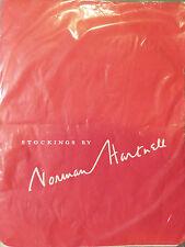 "Norman Hartnell Taglia 9"" vintage RHT Seamfree Sheer Calze microrete"