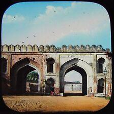 Glass Magic Lantern Slide DELHI THE CASHMERE GATE C1880 PHOTO INDIA