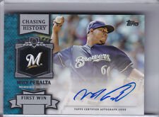 2013 TOPPS #CHA-WP WILY PERALTA AUTO. ROOKIE RC MILWAUKEE BREWERS