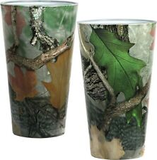 2 Pack Redneck Camo Pint Beer Glasses, 16 Oz. Camouflage Hunting Outdoors