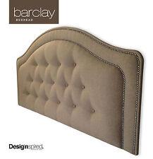 BARCLAY Upholstered Bedhead / Headboard for King Ensemble - Driftwood