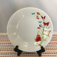 Fiestaware White Butterflies Lunch Plate Fiesta Exclusive 9 in Luncheon