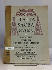 ITALIA SACRA MUSICA by Knud Jeppesen- 1962 Cathedral Music, 16th Cent., Italian