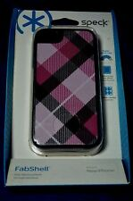 Speck FabShell Fabric-Covered Case for iPhone 5 5S Plaid Pink New