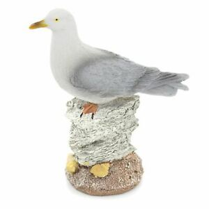 Resin 15cm Seagull Nautical Ornament | Seaside Sea Bird Nautical Decoration