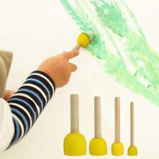 Hn- Ke_ Bu_ 40Pcs/Set Round Foam Sponge Paint Brush Kids Diy Drawing Tools Paint