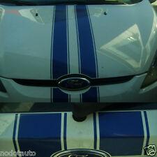 Car Blue Rally stripe Hood Roof Rear Bumper Decal for Fiesta Vinyl Sticker ZC901