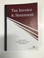5 x 100 Set (200pages) A5 Tax Invoice / Statement Book Carbonless in duplicate