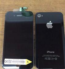 Genuine qualità sostituzione SCHERMO LCD VETRO POSTERIORE PER IPHONE 4s NERO ORIGINALE