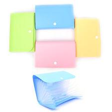 New Mini Office File Document Bag Pouch Bills Folder Card Holder Fastener LY