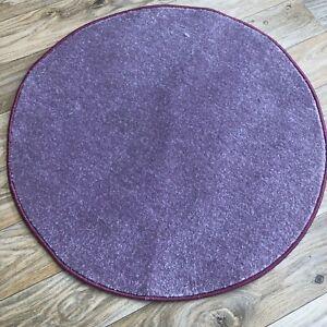 lilac  90cm  Circle  Rug Modern lilac Rug