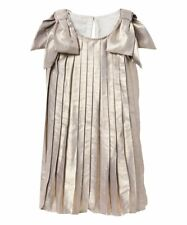 Girls Gymboree Shimmery Gold Metallic Pleated Dress sleeveless Size 10