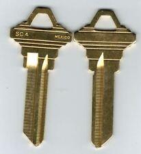 Schlage SC4 Key Blanks C Keyway 6 pin Brass X2
