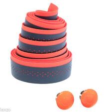 Puños naranja para manillar de bicicletas