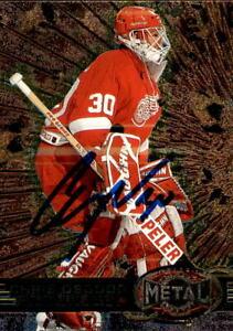 Chris Osgood Signed 1996/97 Fleer Metal Card #49 Detroit Red Wings