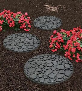 River Rock Stepping Stones Recycled Rubber Hard Wearing Durable