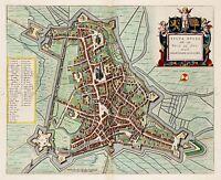 MAP ANTIQUE BLAEU HERTOGENBOSCH CITY PLAN OLD LARGE REPLICA POSTER PRINT PAM0573