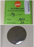 PIER Armaturen Ag-Folie D= 37 mm x 0,03 mm Dicke aus Silber Ag 1 Stk