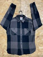 LEVI'S Long Sleeve Shirt Plaid Check Thick Cotton Strauss Size L Large