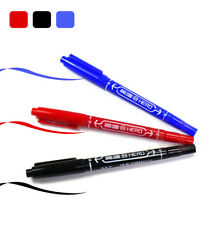 3Pcs Waterproof Marker Pen CD DVD Double Tip Fine Permanent Oily Black&Red&Blue