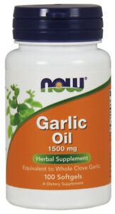 NOW Supplements Garlic Oil 1500 mg - 100 Softgels
