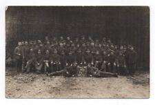 Foto AK Gruppenbild Minenwerfer Abteilung I/10 von 1917
