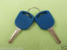 2 - 82030143 F0NN11603AA Ford New Holland Ignition Switch Keys 8260 TM150 TS100