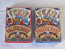 2 Decks Politicards Set Playing Cards 2004 Democrats and Republicans New Sealed