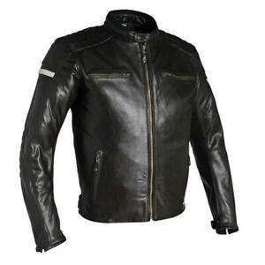 Richa Daytona Motorcycle Motorbike Buffalo Leather Jacket - Brown