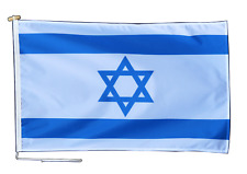 More details for israel flag with rope and toggle - various sizes