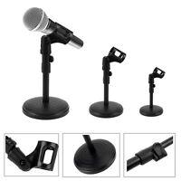 Adjustable Desktop Desk Table Microphone Mic Clip Mount Stand Holder Protable