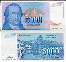 YUGOSLAVIA 5000 DINARA  # 484