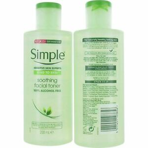 Simple Kind To Skin Soothing Facial Toner 200ml For Sensitive Skin