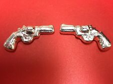 **OLD POUR YPS** 38 Special AND Colt 45 Pistols Yeagers Poured .999 Fine Silver